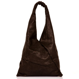 Shopping bag in pelle nera – cinzia rossi
