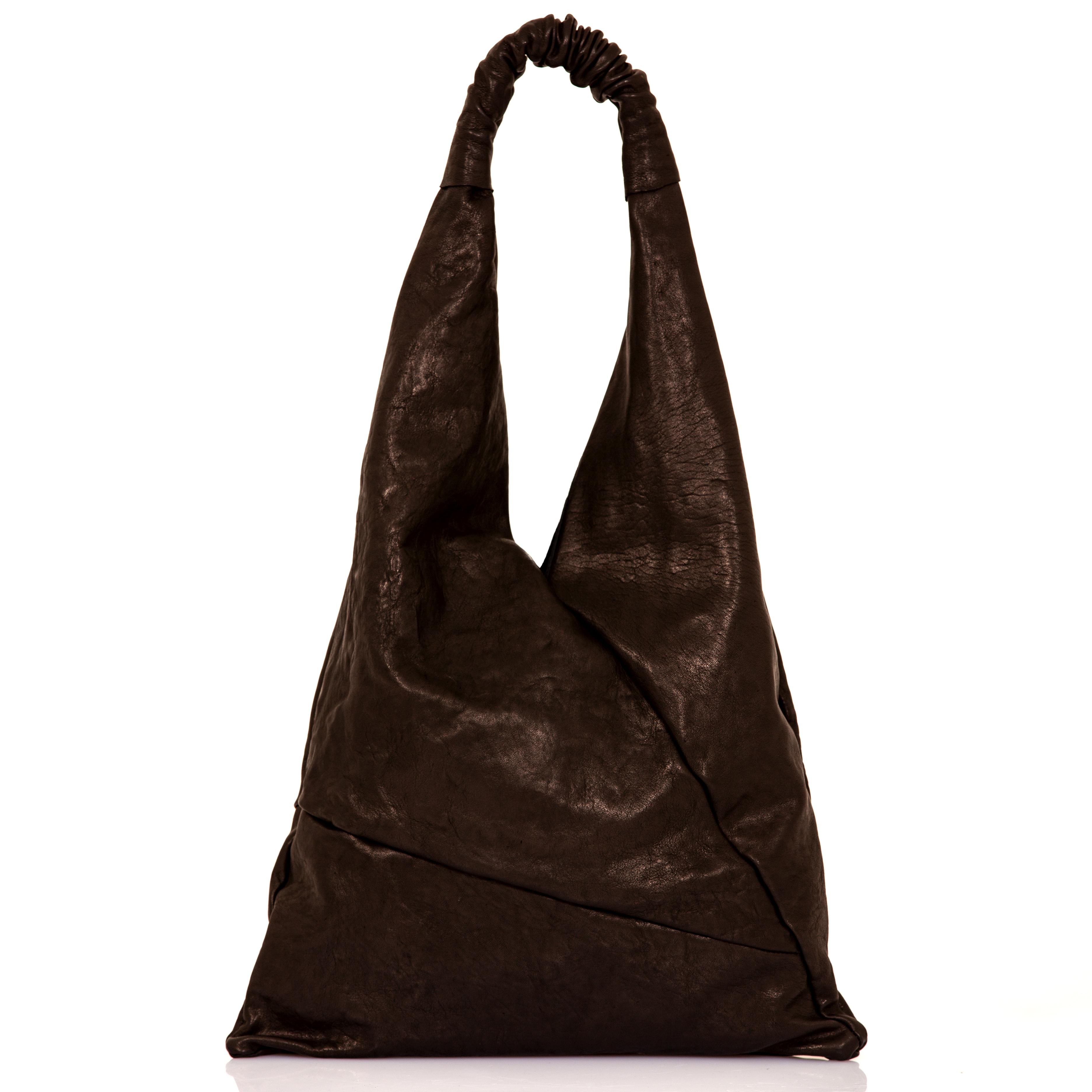 11af3da02f Shopping bag in pelle nera - cinzia rossi - MATERIANUDA