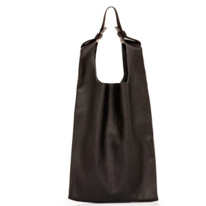 Shopping bag in pelle nera - cinzia rossi