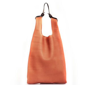 Shopping bag in pelle rosa cipria - cinzia rossi