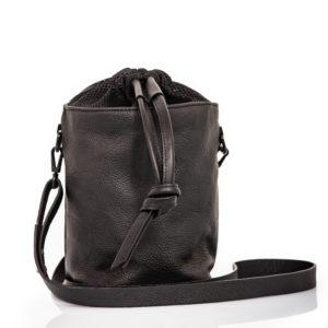 Bucket Bag in pelle nera - Cinzia Rossi