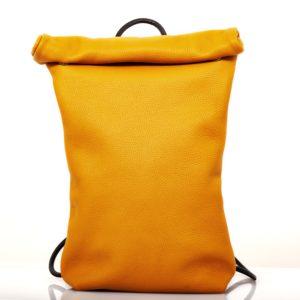 Zaino in pelle colore giallo ocra- Cinzia Rossi