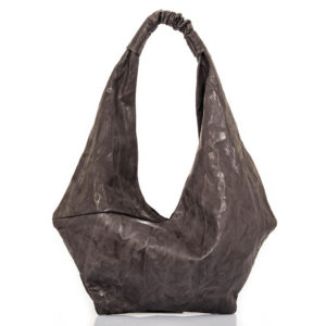 Shopping bag in pelle antracite - cinzia rossi