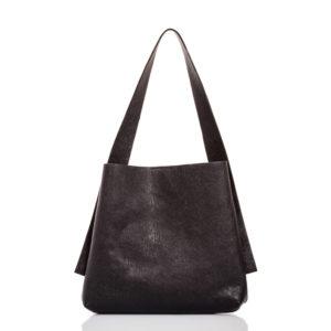 Tote-bag in pelle nera - Cinzia Rossi
