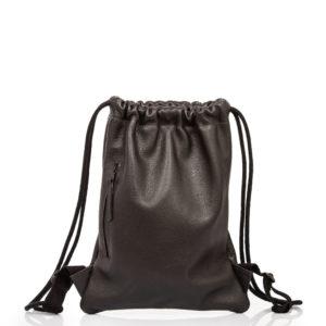 Sac à dos en cuir noir - Cinzia Rossi