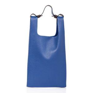 Tote bag in pelle blu cobalto - Cinzia Rossi