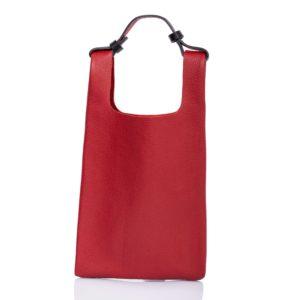 Tote bag in pelle rosso - Cinzia Rossi