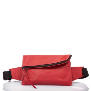 Sac ceinture en cuir rouge - Cinzia Rossi