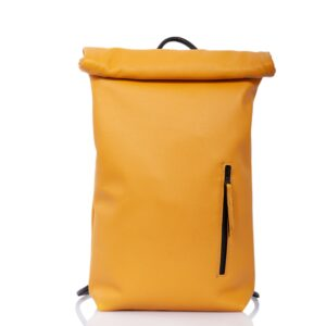 Sac à dos roll-top en cuir jaune - Cinzia Rossi