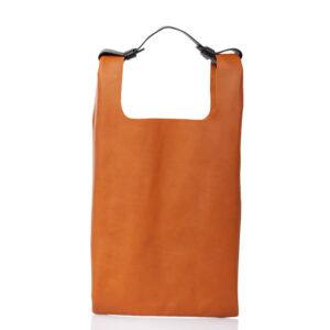 Tote-bag in pelle marrone - Cinzia Rossi